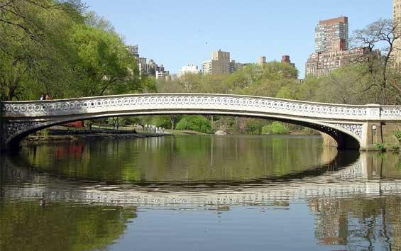 Highland Park Bridge Bow Bridge Mid-park at 74th