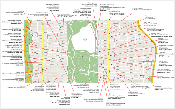 New York Film Location Maps and Apartments On the Set of New – Nyc Tourist Map Pdf